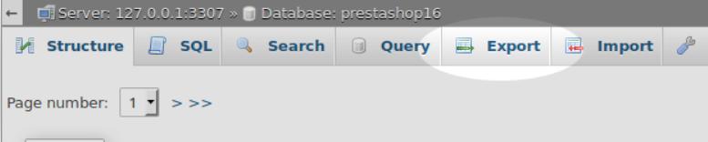 PrestaShop phpmyadmin