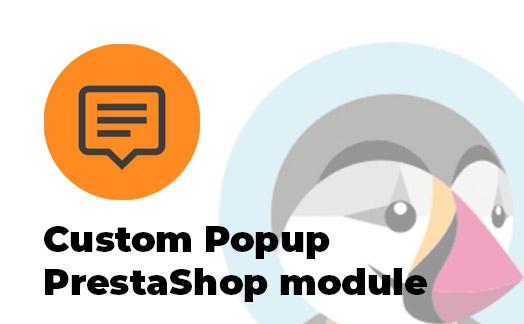 custom popup PrestaShop